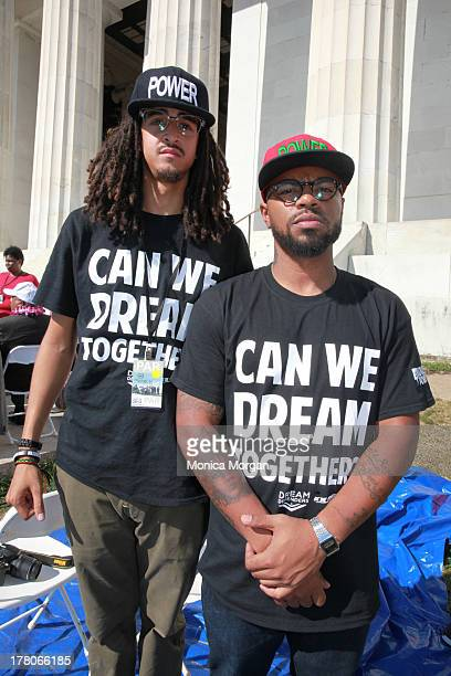 Steven Pargett and Phillip Agnew attends the 50th Anniversary Of Martin Luther King's March On Washington on August 24 2013 in Washington DC