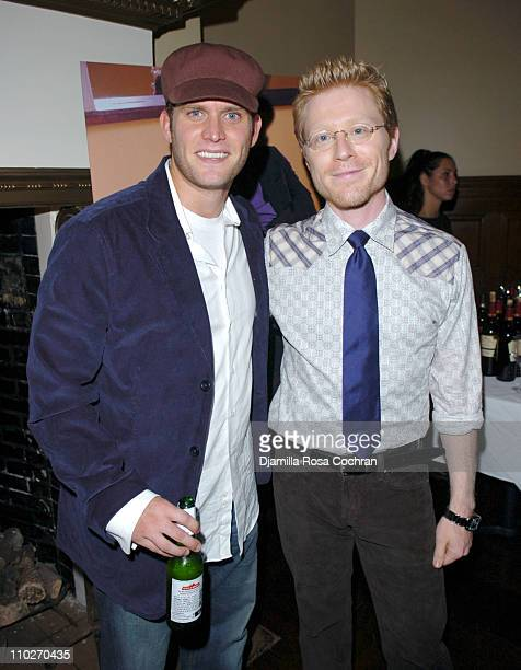 Steven Pasquale and Anthony Rapp during Gotham Magazine and Versace Precious Watches Celebrate Steven Pasquale and Anthony Rapp at Chemist Club in...