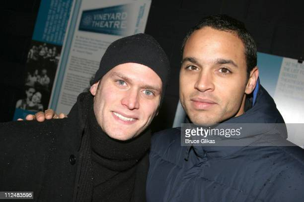 "Steven Pasquale and Daniel Sunjata during ""After Ashley"" Off-Broadway Premiere - After Party at Link in New York City, New York, United States."