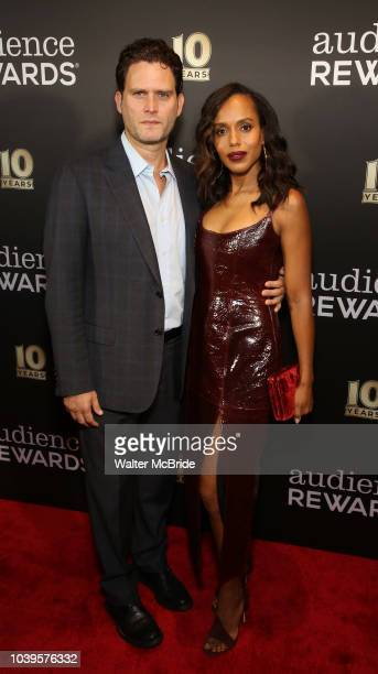 Steven Pasquale and Kerry Washington attend the Broadway Loyalty Program Audience Rewards 10th Anniversary Celebration on September 24 2018 at Sony...