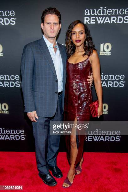 Steven Pasquale and Kerry Washington attend the Broadway Loyalty Program Audience Rewards 10th Anniversary celebration at Sony Hall on September 24...