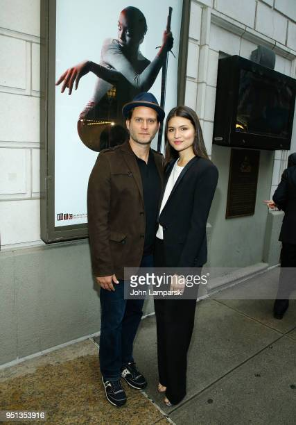 Steven Pasquale and Phillipa Soo attend 'Saint Joan' Broadway Opening Night at Samuel J Friedman Theatre on April 25 2018 in New York City