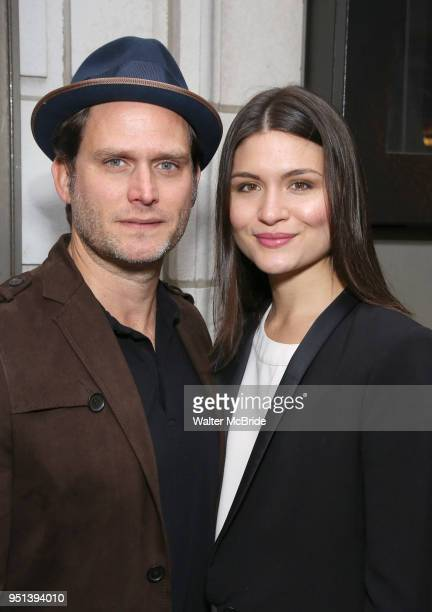 Steven Pasquale and Phillipa Soo attend the Broadway Opening Night of 'Saint Joan' at the Samuel J Friedman Theatre on April 25 2018 in New York City