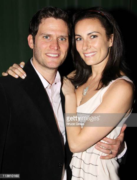 Steven Pasquale and wife Laura Benanti attend The Opening Night of The Intelligent Homosexual's Guide to Capitalism and Socialism with a Key to the...