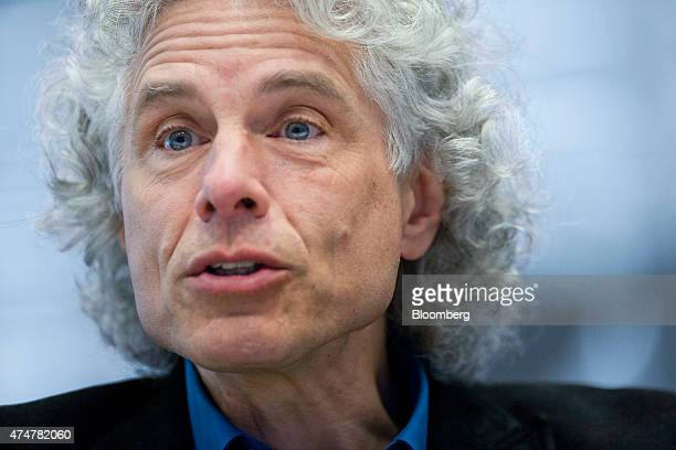 Steven Pinker author and Harvard professor speaks during an interview in New York US on Friday May 22 2015 Pinker's latest book 'The Sense of Style...