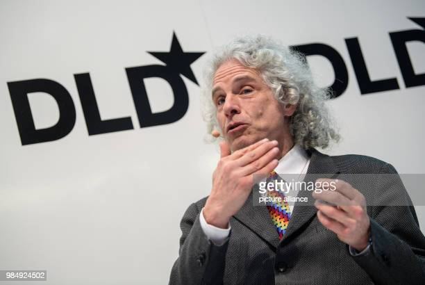 Steven Pinker Psychologist and Cognitive Scientist at Harvard University speaks at the innovation conference DigitalLifeDesign in Munich Germany 22...