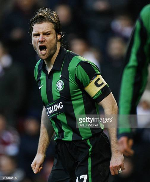 Steven Pressley of Celtic in action during the Scottish Premier division match between Hearts and Celtic at Tynecastle Park on January 14 2006...