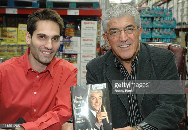 LR Steven Prigge and Frank Vincent during Frank Vincent Signs His New Book 'A Guide To Being A Man's Man' at Sam's Club in Freehold March 23 2006 at...