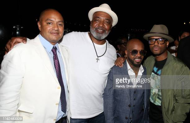 Steven Prudholme Michael Mauldin Jermaine Dupri and Larenz Tate attend WE tv Power Influence Hip Hop The Remarkable Rise Of So So Def celebration and...