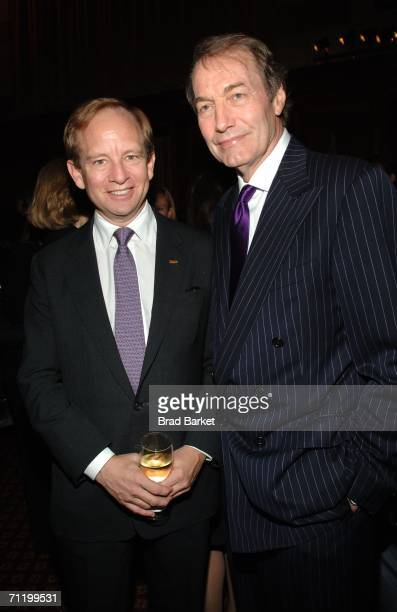 Steven Rattner and Charlie Rose arrive for the WNET and WLIW 13th annual gala at Gotham Hall June 13 2006 in New York City