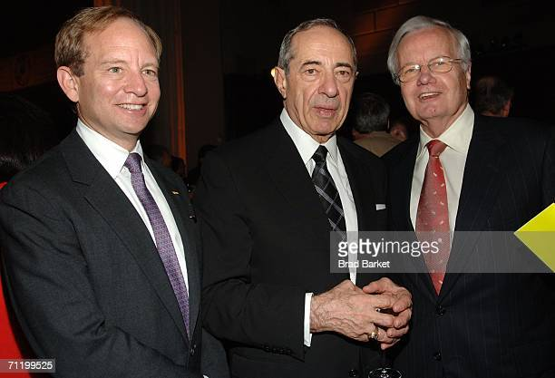 Steven Rattner former Gov Mario Cuomo and Bill Moyers attend the WNEW and WLIW 13th annual gala at Gotham Hall June 13 2006 in New York City