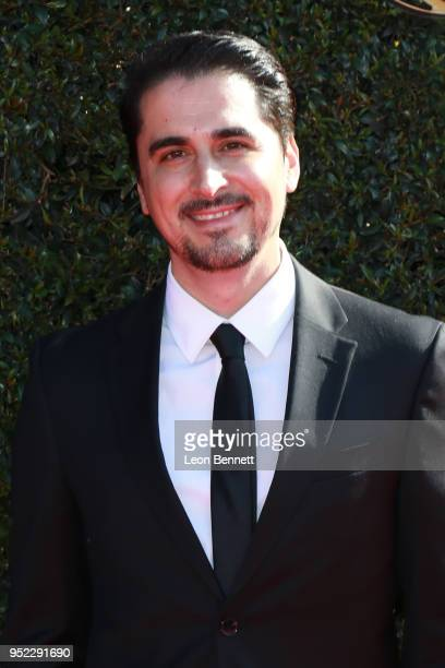 Steven Rebolledo attends the 45th Annual Daytime Creative Arts Emmy Awards Arrivals at Pasadena Civic Auditorium on April 27 2018 in Pasadena...