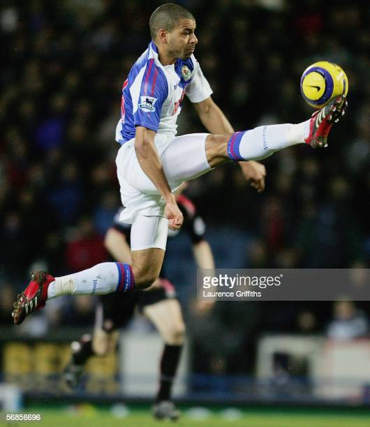 Steven Reid of Blackburn in action during the Barclays Premiership match between Blackburn Rovers and Sunderland on February 15 2006 at Ewood Park in...