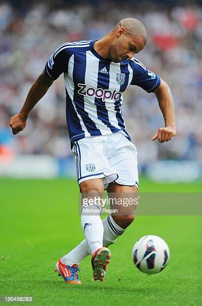Steven Reid of West Brom in action during the Barclays Premier League match between West Bromwich Albion and Liverpool at The Hawthorns on August 18...