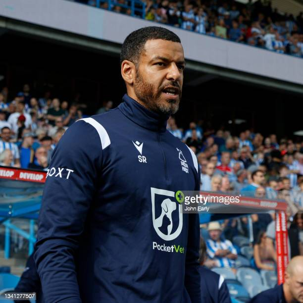 Steven Reid the caretaker Head Coach of Nottingham Forest during the Sky Bet Championship match between Huddersfield Town and Nottingham Forest at...