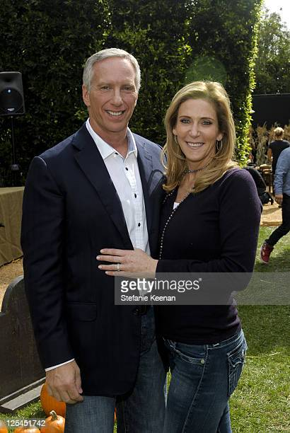Steven Robinson and Janet Crown attend Halloween Carnival Presented By Pottery Barn Kids To Benefit Operation Smile at Private Residence on October...