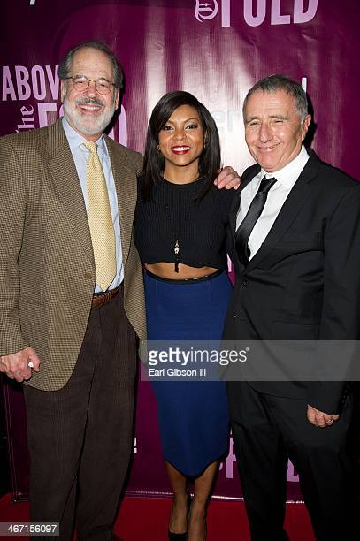Steven Robman, Taraji P. Henson and Bernard Weinraub attend the after party for the cast of 'Above the Fold' at Pasadena Playhouse on February 5,...