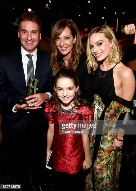 Steven Rogers Allison Janney Mckenna Grace and Margot Robbie attend the 21st Annual Hollywood Film Awards at The Beverly Hilton Hotel on November 5...