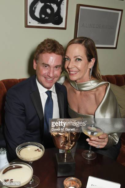 Steven Rogers and Allison Janney attend the Grey Goose 2018 BAFTA Awards after party on February 18 2018 in London England