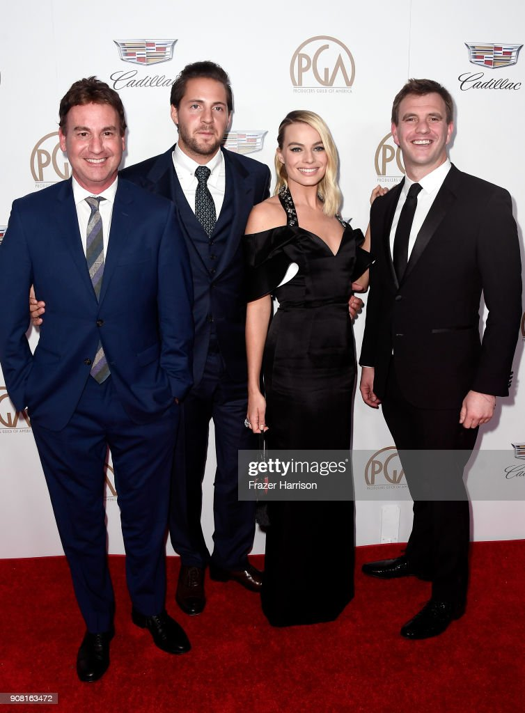 Steven Rogers, Tom Ackerley, Margot Robbie, and Bryan Unkeless attend the 29th Annual Producers Guild Awards at The Beverly Hilton Hotel on January 20, 2018 in Beverly Hills, California.
