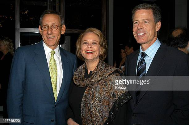 Steven Ross Ann Moore and Jeff Bewkes during Central Park Conservancy hosts 150th Anniversary of the Park at Mandarin Oriental Hotel in New York City...