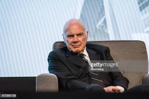 Steven Roth chief executive officer of Vornado Realty Trust listens during the 2017 International Finance and Infrastructure Cooperation Forum in New...