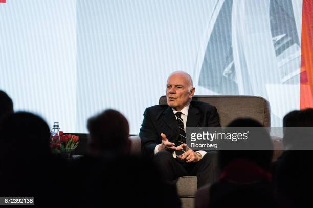 Steven Roth chief executive officer of Vornado Realty Trust speaks during the 2017 International Finance and Infrastructure Cooperation Forum in New...