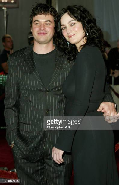 Steven Roy and CarrieAnne Moss during 'Matrix Revolutions' Los Angeles Premiere Arrivals at Walt Disney Concert Hall in Los Angeles California United...