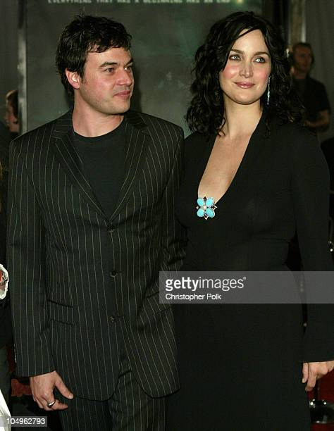 Steven Roy and CarrieAnne Moss during Matrix Revolutions Los Angeles Premiere Arrivals at Walt Disney Concert Hall in Los Angeles California United...