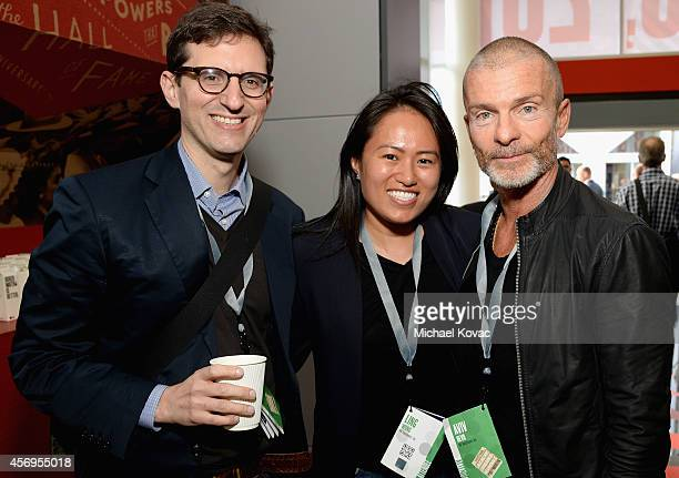 Steven Rubenstein NV Investments' Ling Wong and Aviv Nevo attend the Vanity Fair New Establishment Summit at Yerba Buena Center for the Arts on...