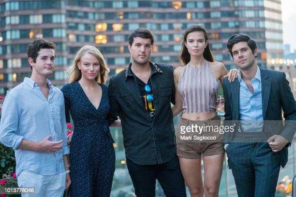 Steven Sachs Danielle Lauder Andrew Warren Alex Assoulline and Michaela Vybohova attend the Gotham Summer Sundown on August 8 2018 in New York City