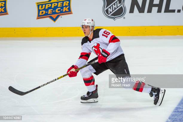 Steven Santini of New Jersey Devils skates during the NHL Global Series Challenge Switzerland 2018 match between SC Bern and New Jersey Devils at...