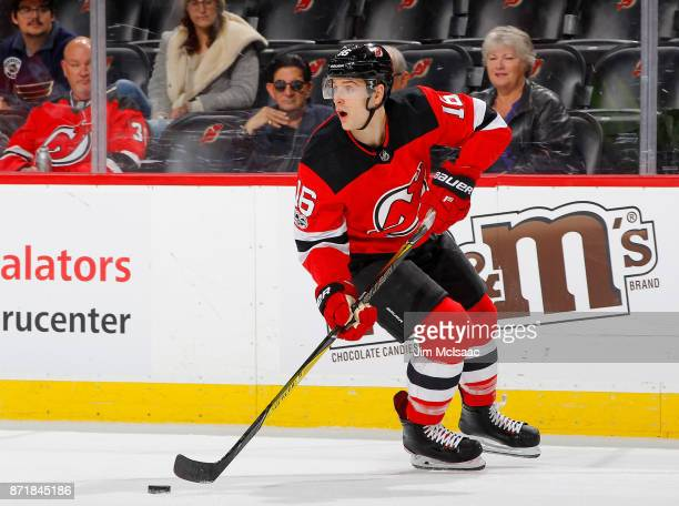 Steven Santini of the New Jersey Devils in action against the St Louis Blues on November 7 2017 at Prudential Center in Newark New Jersey The Blues...