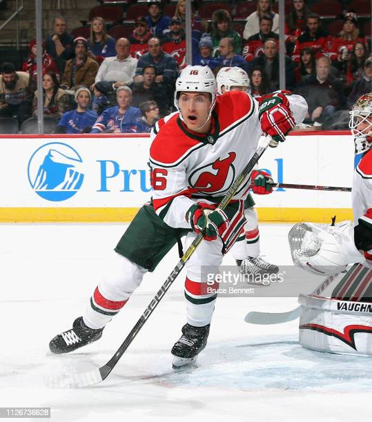 Steven Santini of the New Jersey Devils skates against the New York Rangers at the Prudential Center on January 31 2019 in Newark New Jersey The...