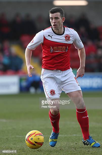 Steven Schumacher of Fleetwood Town in action during the Sky Bet League Two match between Fleetwood Town and Northampton Town at Highbury Stadium on...