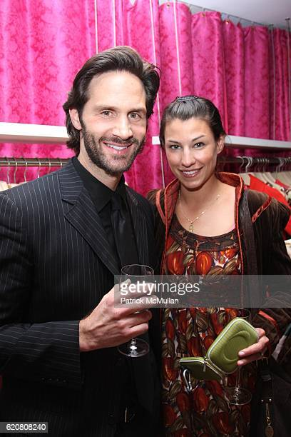 Steven Scott and Tina Bishai attend TRACY REESE Secret Garden Party at Tracy Reese Boutique on March 27 2008 in New York City