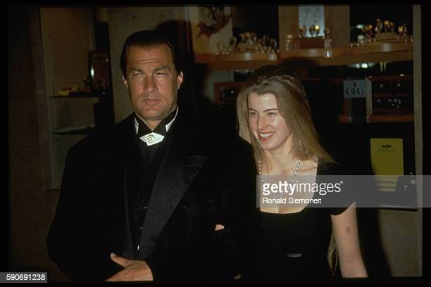 Steven Seagal and Arissa Wolf during the St Judes charity gala