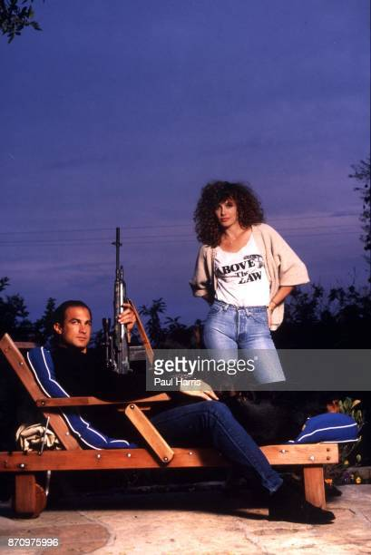 Steven Seagal and his wife, actress/supermodel Kelly LeBrock at home when they where married and had their first child. They divorced in 1994. April...
