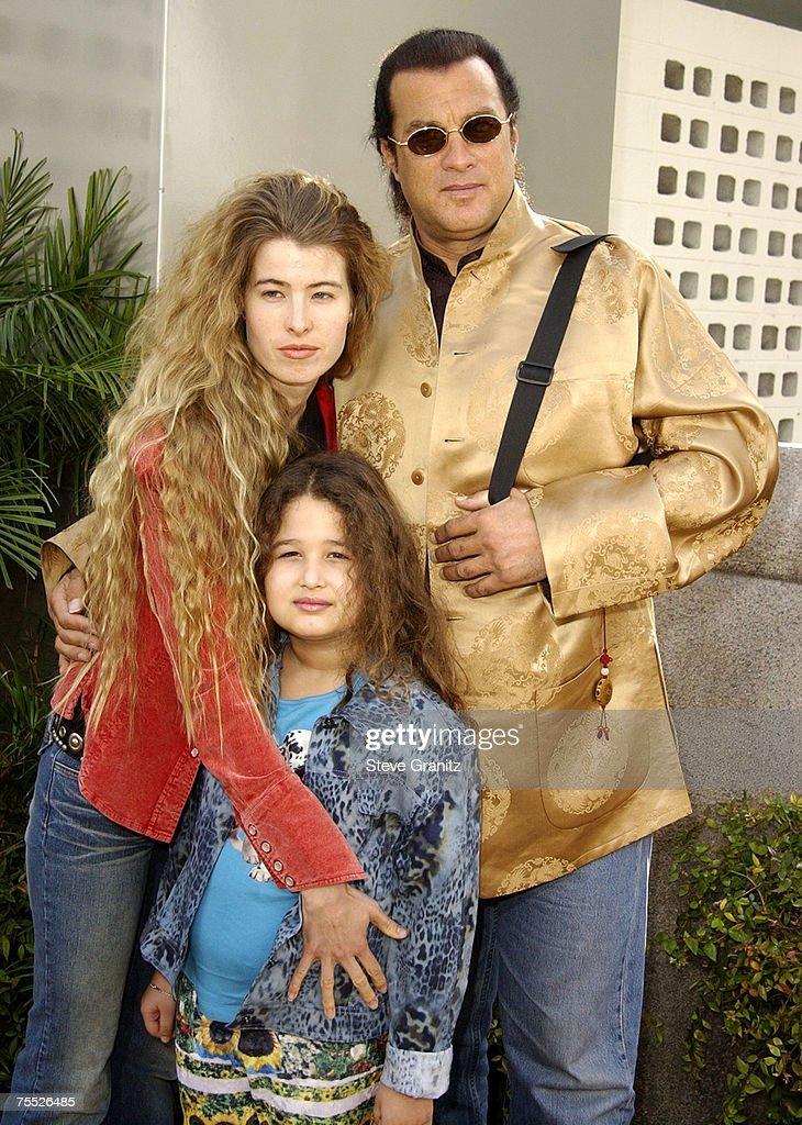 Steven Seagal, Arissa Wolf & daughter Savannah at the Cinerama Dome in Hollywood, California