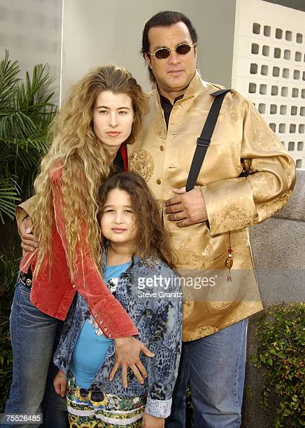Steven Seagal Arissa Wolf daughter Savannah at the Cinerama Dome in Hollywood California