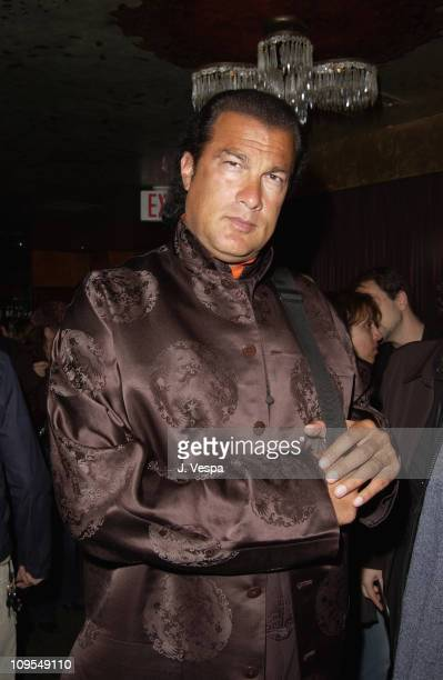 Steven Seagal during Vogue Takes Beverly Hills Hublot Party at The Lounge in West Hollywood California United States