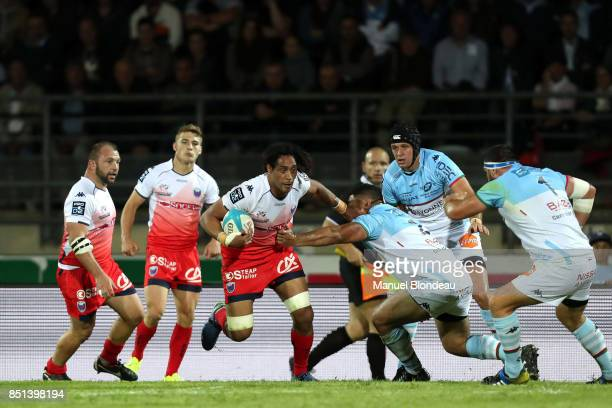 Steven Setephano of Grenoble during the French Pro D2 match between Aviron Bayonnais and Grenoble on September 21 2017 in Bayonne France