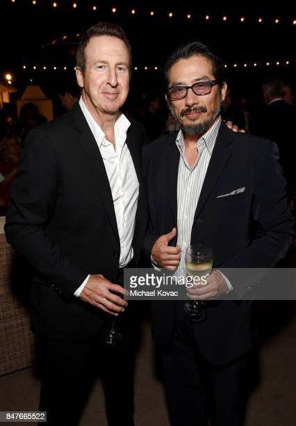 Steven Siebert and Hiroyuki Sanada attend the 2017 Gersh Emmy Party presented by Tequila Don Julio 1942 on September 15 2017 in Los Angeles California