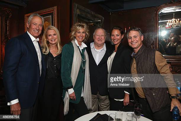 Steven Simon Blaine Trump Kelly Ripken Bobby Zarem Christy Turlington and Jason Binn attend Bobby Zarem's Birthday at The Cutting Room on September...