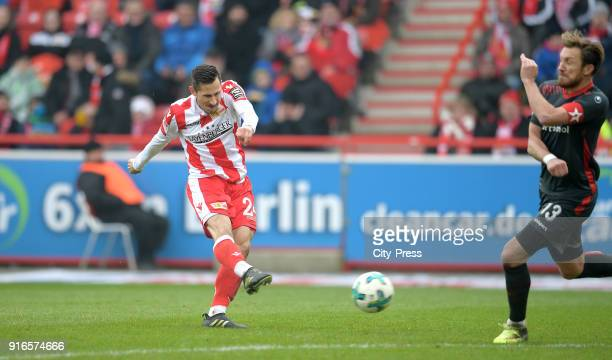Steven Skrzybski of 1 FC Union Berlin and Adam Bodzek of Fortuna Duesseldorf during the second Bundesliga game between Union Berlin and Fortuna...
