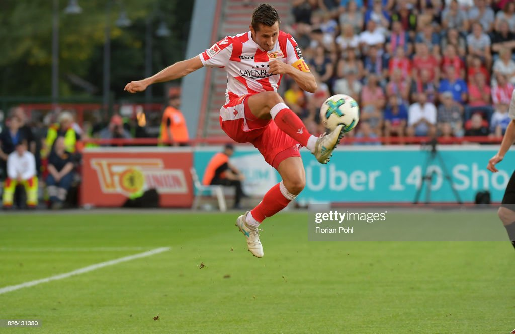 Steven Skrzybski of 1 FC Union Berlin during the game between Union Berlin and Kieler SV Holstein on august 4, 2017 in Berlin, Germany.