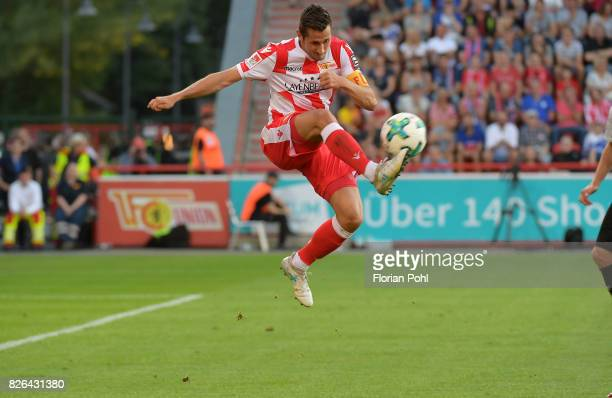 Steven Skrzybski of 1 FC Union Berlin during the game between Union Berlin and Kieler SV Holstein on august 4 2017 in Berlin Germany