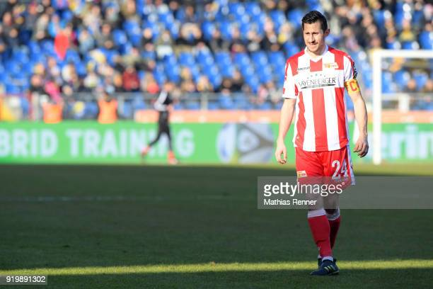 Steven Skrzybski of 1 FC Union Berlin during the second Bundesliga match between Eintracht Braunschweig and Union Berlin on February 18 2018 at...