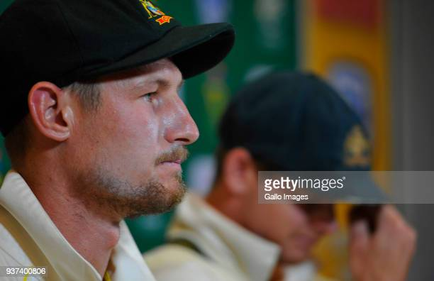 Steven Smith and Cameron Bancroft of Australia during day 3 of the 3rd Sunfoil Test match between South Africa and Australia at PPC Newlands on March...