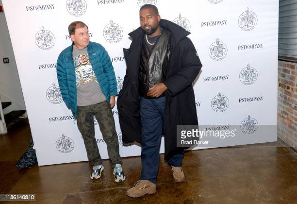 Steven Smith and Kanye West attend the Fast Company Innovation Festival Day 3 Arrivals on November 07 2019 in New York City